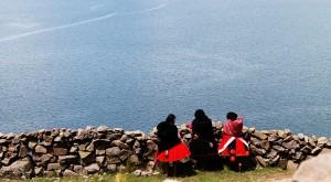 Titicaca andean women