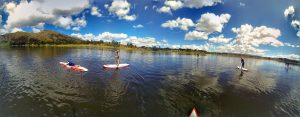 Stand up paddle board in Piuray Cusco
