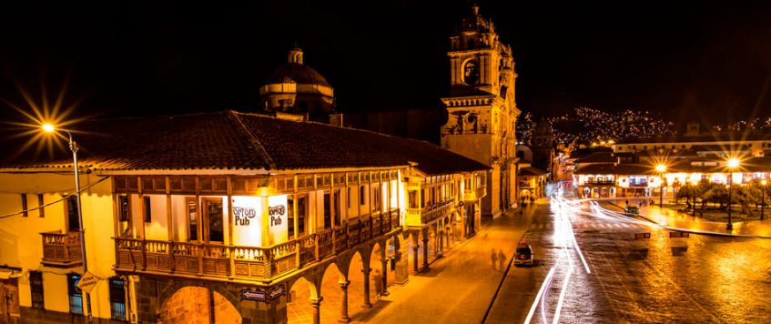 Cusco Plaza Night view